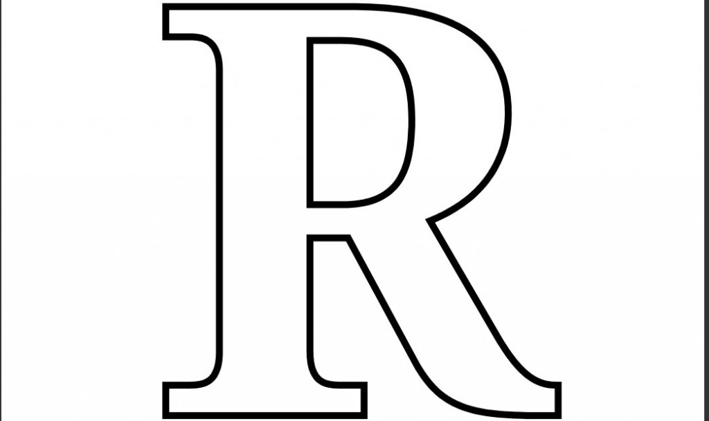 Pics Photos - Letter Coloring R