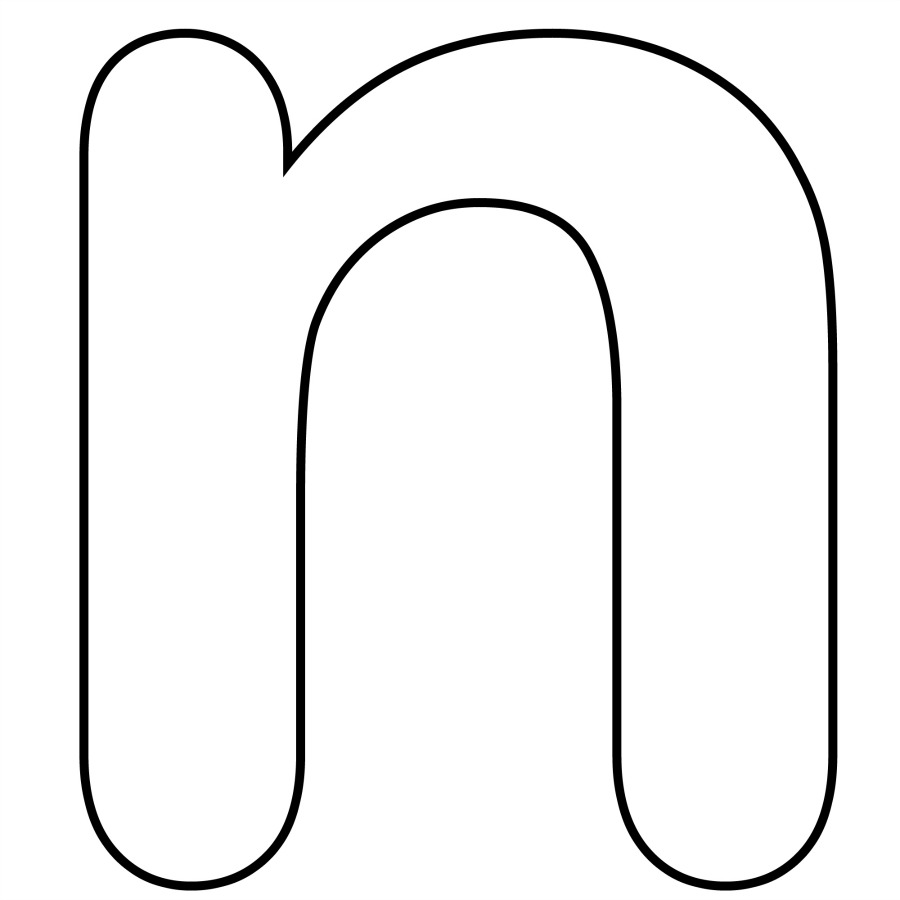 Alphabet Coloring Pages Letter N : Free coloring pages of bubble letters n